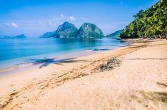 море ландшафта рисуночное El Nido, Филиппиныы Стоковые Изображения RF