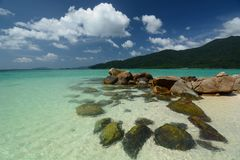 Море бирюзы в Ko Lipe Провинция Satun Таиланд Стоковые Фото