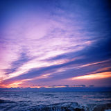 море вечера склонения Стоковое Изображение
