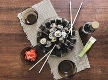 море вкусного лимона японии еды рыб свежего японского материальное сырцовое Стоковая Фотография