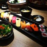 море вкусного лимона японии еды рыб свежего японского материальное сырцовое Стоковые Фото