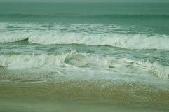 Море, вода, падения, песок, земля, голубое море Стоковые Фото