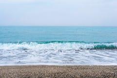 Море, волны, песок Стоковая Фотография