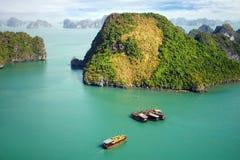 море Вьетнам ландшафта ha залива длиннее рисуночное Стоковое Фото