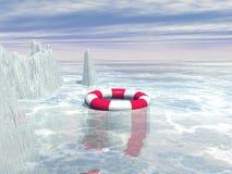 Море в зиме Стоковое Изображение RF