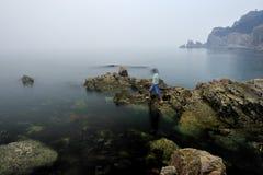 Море в утре Стоковое Изображение RF