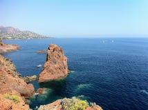 Море в Франции Стоковое Изображение RF