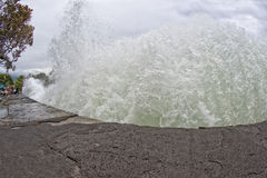 Море гавани Kona развевает в большом острове Стоковое Изображение RF