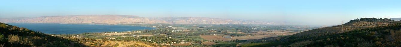 Море Галилея и долина реки Иордана Стоковая Фотография RF