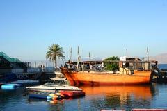 Море Галилеи (озера) Kineret, Израиля Стоковые Изображения RF