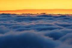 Море горы облаков Стоковая Фотография RF