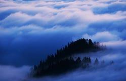 Море горы облаков Стоковое Изображение RF