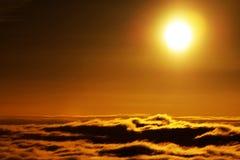 Море горы облаков Стоковая Фотография