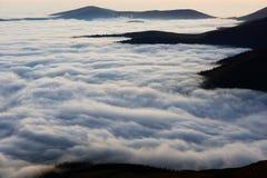 Море горы облаков Стоковое фото RF