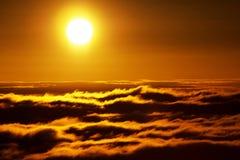Море горы облаков Стоковое Фото