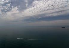 Море горы Novorossiysk Россия 13 05 2017 Стоковые Фотографии RF