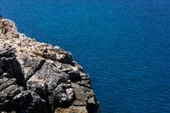 море голубого свободного полета утесистое Стоковые Изображения RF