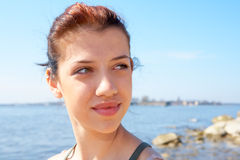 море девушки подростковое Стоковое Изображение