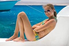 море девушки Стоковые Фото