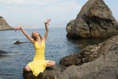 море девушки Стоковое Изображение RF