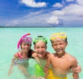 море детей счастливое Стоковая Фотография RF