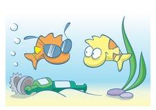 море загрязнения Стоковое Изображение RF