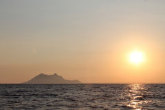 Море захода солнца Стоковая Фотография RF
