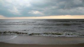 Море Заход солнца Природа шторм акции видеоматериалы