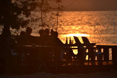 Море Заход солнца Таиланд Ko Chang Стоковая Фотография