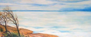Море зимы покрыто с льдом бесплатная иллюстрация