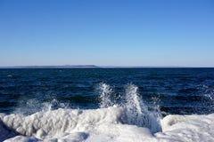 Море зимы Стоковые Изображения