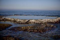 Море Израиль Ahziv Стоковые Изображения RF