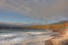 море Исландии hdr Стоковое Изображение RF