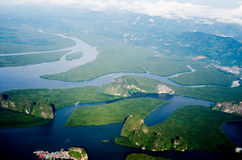 Море и гора Стоковая Фотография