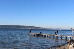 Море и док стоковое фото rf