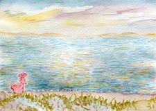 Море и женщины Стоковые Изображения RF