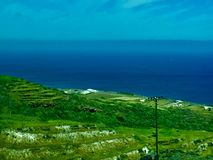 Море и зеленый цвет стоковая фотография