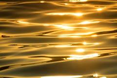 Море и золотое солнце Стоковое Изображение RF