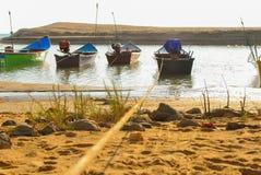 Море и корабли стоковая фотография