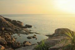 Море и небо моря Andaman Стоковые Изображения
