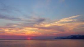 Море и небо Sunser сток-видео