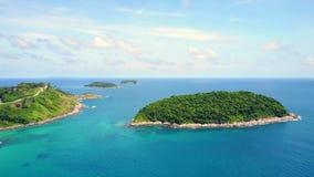 Море и остров Таиланда пейзажа на острове Пхукета стоковая фотография