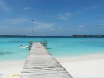 Море и песок Мальдивов Стоковые Изображения