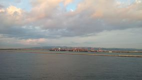 Море и порт barcelona Испания сток-видео