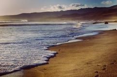 Море и посылает пляж на празднике Лето Стоковая Фотография RF