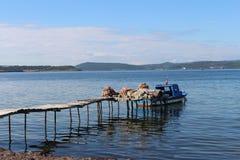 Море и рыболовы стоковое изображение