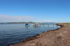 Море и рыболовы стоковая фотография