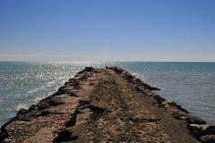 Море и сердце Стоковые Изображения RF