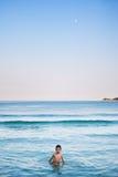 Море и луна Стоковое Фото