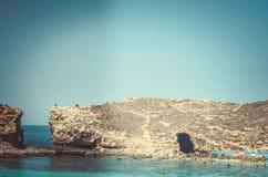 Море и утес Стоковое фото RF